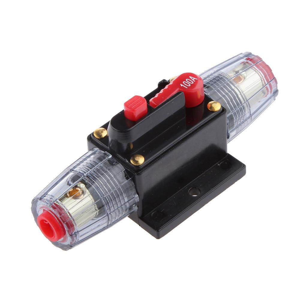 dc 12 v 24 v carros power bateria carregador disjuntor em linha com interruptores de restauracao