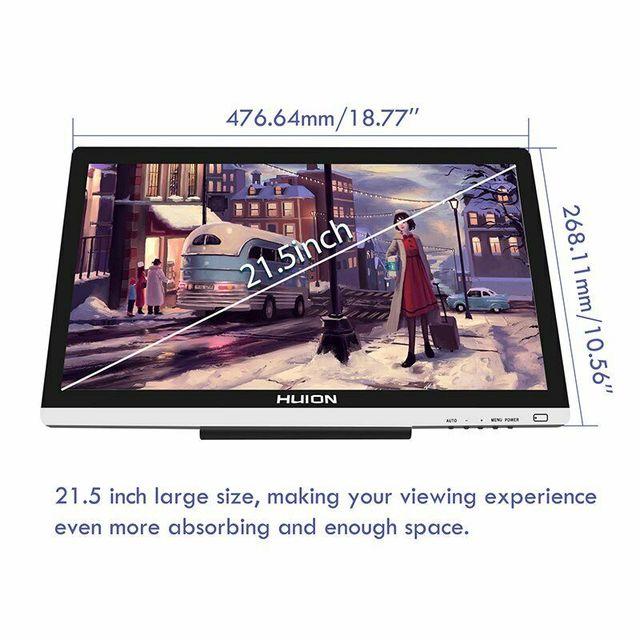 """Huion 21.5 """"GT220 V2 Đồ Họa Máy Tính Bảng Vẽ Màn Hình 8192 Bút Áp Chuyên Nghiệp IPS Bút Màn Hình Hiển Thị Màn Hình HD Cho Windows và Mac"""