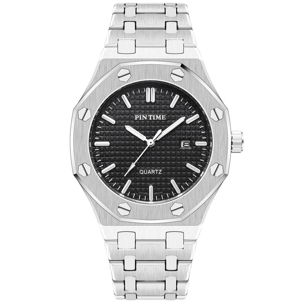 Classic Business Mens Watches Top Brand Luxury Steel Quartz Watch Men Waterproof Date Male Military Wristwatch Relogio Masculino