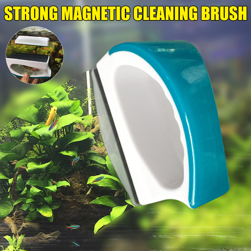 Мини-аквариумный магнитный очиститель для аквариума, стеклянная щетка, магнитные сильные магнитные чистые мертвые концы, без царапин LKS99