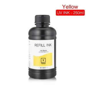 Image 5 - 250ML 4 couleurs/ensemble LED encre UV pour DX4 DX5 DX6 DX7 tête dimpression pour Epson 1390 R1800 R1900 4800 4880 7880 9880 UV imprimante à plat