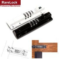 Rarelock Combination Door Latch 3 Digit Sliding Bolt for Window Storage Jewelry Box Tool Cabinet Gym School Locker DIY MS550 ii