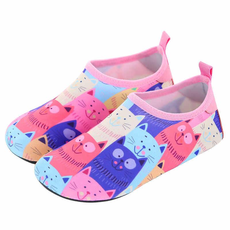 Dla dzieci na świeżym powietrzu buty do wody boso Quick-Dry Aqua joga skarpety chłopcy dziewczęta zwierząt miękkie do nurkowania buty wędkarskie plaży buty do pływania