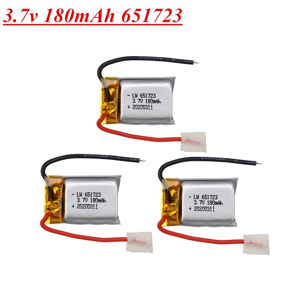 3.7v 180mah bateria para syma s109g s111g mjxrc x900 x901 helicóptero de controle remoto 3.7v 180mah 651730