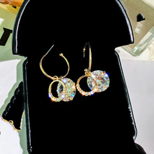 Korea Geometric Drop Earrings for Women Bijoux Irregular Transparent Crystal Drop Earrings Statement Earring Jewelry Gifts цена в Москве и Питере