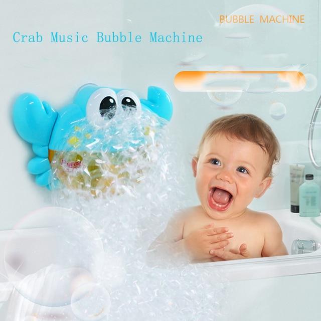 Bubble Machine Crabs Frog Music Kids Bath Toy Bathtub Soap Automatic Bubble Maker Baby Bathroom Toy for Children 2