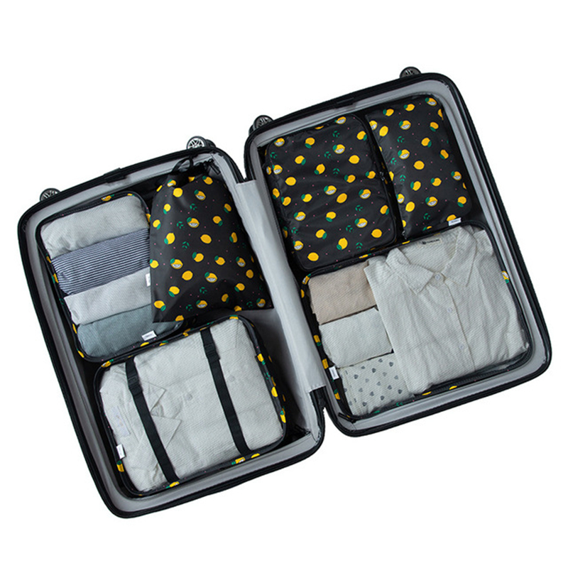 6PCS/Set High Quality Cloth Waterproof Travel Mesh Bag In Luggage Organizer Packing Cube For Accessories XYLOBHDG