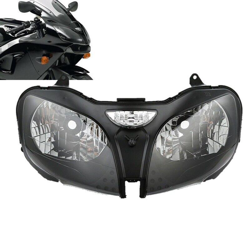 Conjunto de faro delantero de motocicleta para Kawasaki Ninja ZZR600 ZX6R 00-02 ZX9R 00-03 Kalen, Nueva joyería única para hombre, pulsera de amuleto de motocicleta de acero inoxidable, brazalete de cuero duradero Rock Punk, regalo barato genial