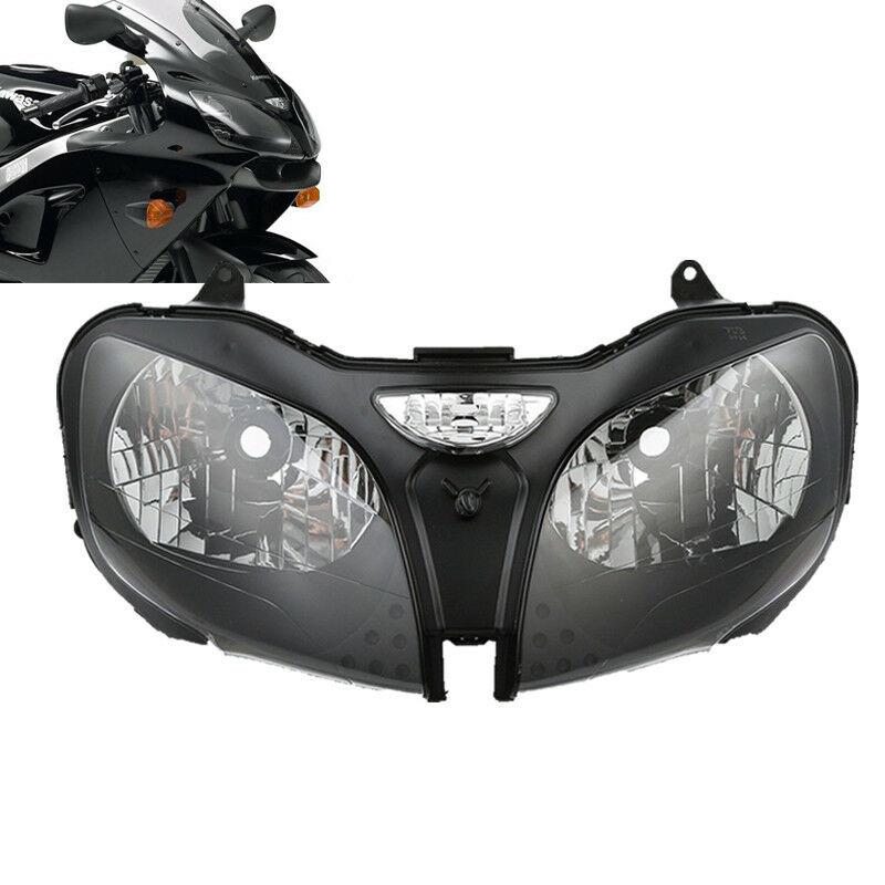 Motorcycle Headlight Head Lamp Assembly For Kawasaki Ninja ZZR600 ZX6R 00-02 ZX9R 00-03