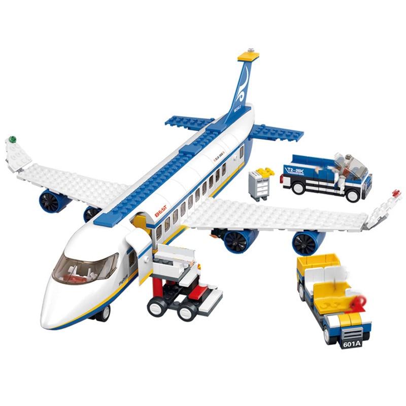 463PCS Airport Building Blocks Air Plane Passenger Block Avitation Boy Favorite Toys Assembly DIY BRICKS TOY FOR  KID BIRTHDAY