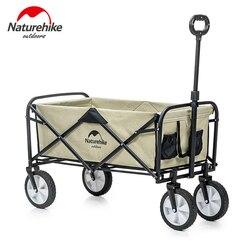 Naturehike Folding Camping Push Warenkorb Tragbare Outdoor Camping Picknick Trolley Auto Einstellbare Trolley Pull-Warenkorb