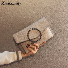 Znakomity Vintage Clutch Purse Evening Bags Clutches Ring PU Leather Party Female Small Ladies Messenger Envelope 2019