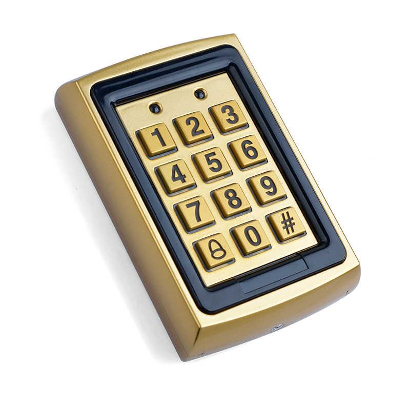 Kartu RFID Password Logam Access Control Keypad Tahan Air Outdoor Pembuka Pintu Kunci Elektronik untuk Rumah/Hotel/Kantor