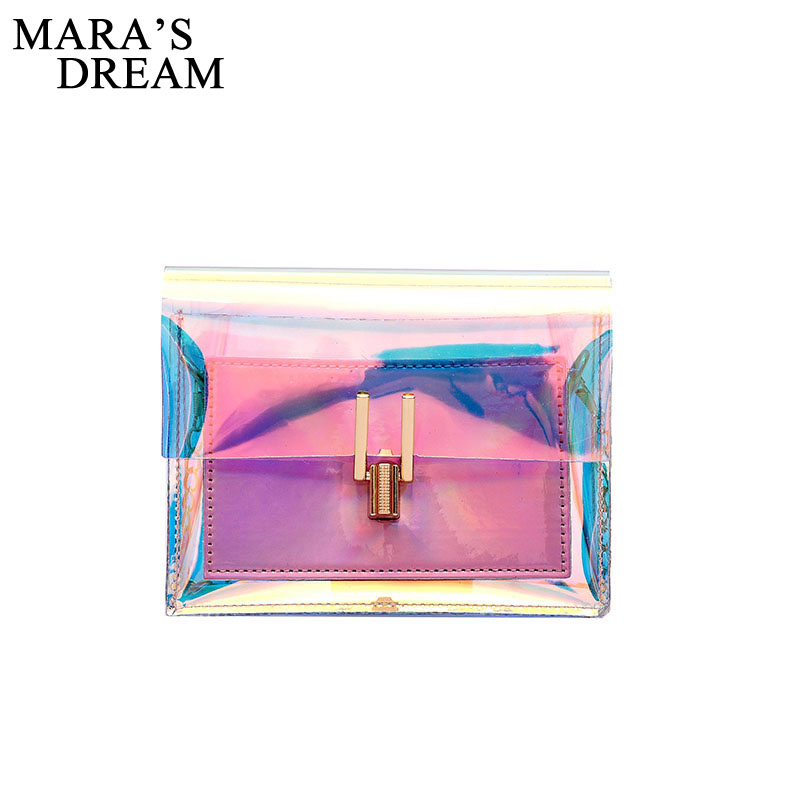 Mara's Dream Crossbody Bags For Women 2020 Laser Transparent Bags Fashion Women Shoulder Bag Messenger PVC Waterproof Beach Bag