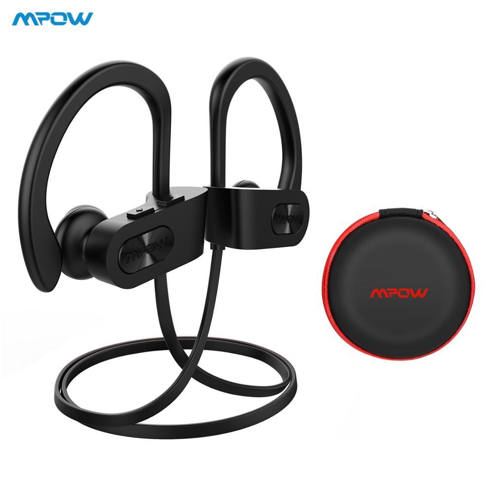 Mpow bluetooth 4.1 fones de ouvido com cancelamento ruído fone alta fidelidade estéreo chama ipx7 à prova dwaterproof água esportes com microfone caso