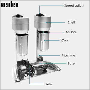 Image 3 - Xeoleo Milk shake machine Double cups Milk shaking machine Milkshaker 20000rpm Milk shake stirring Beverage Mixer