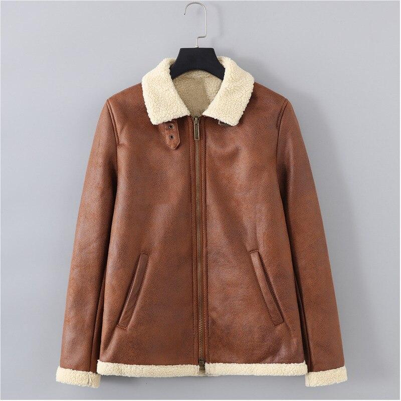 EWQ/2019 Новая модная осенне зимняя короткая бархатная куртка для мужчин свободного покроя с лацканами в японском стиле Chaqueta Hombre 9A164 - 6