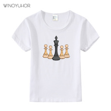 Tshirt Kids Chess Baby Clothes Short-Sleeve Game-Print Girls Boys Children Summer Casual