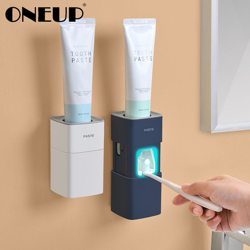 ONEUP Dust-proof Toothpaste Squeezer Plastic Automatic Toothpaste Dispenser Tube Squeezer For Toilet Home Bathroom Accessories