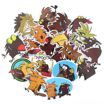 20 Pcs/set The Angry Beaver Cartoon Scrapbooking Stickers Decal For for Guitar Laptop Luggage Car Fridge Graffiti Sticker