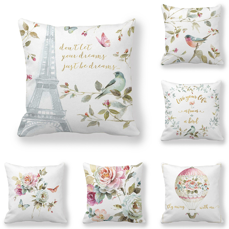 Top 10 Largest Floral Decorative Pillows Flowers And Birds Ideas And Get Free Shipping A283