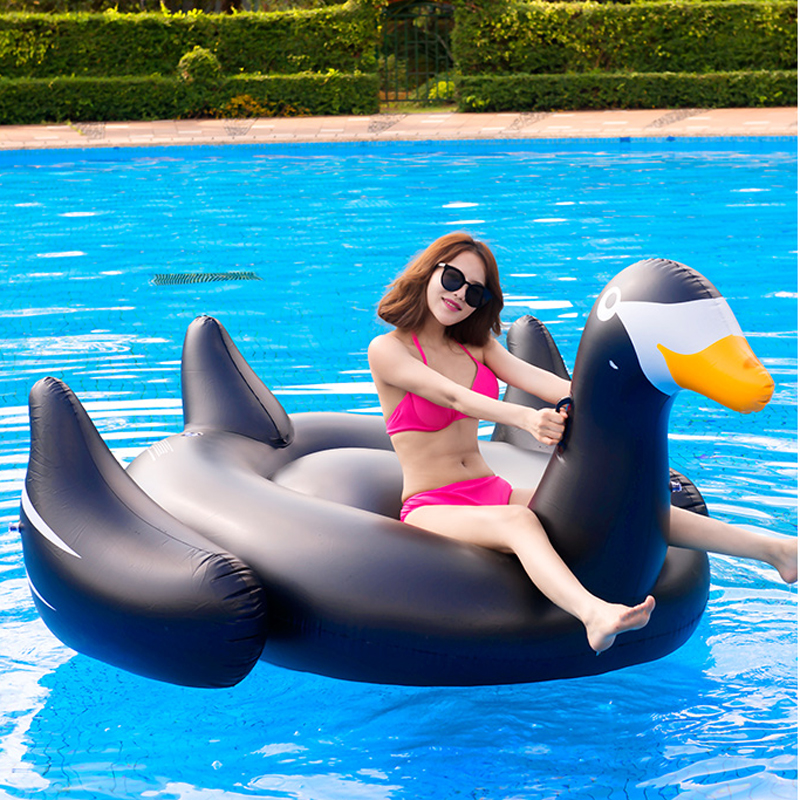 60 Inch 1.5M Giant Inflatable Swan Pool Float Ride-On Swan Pool Swimming Ring Holiday Party Water Fun Toys Islands Boias Piscina