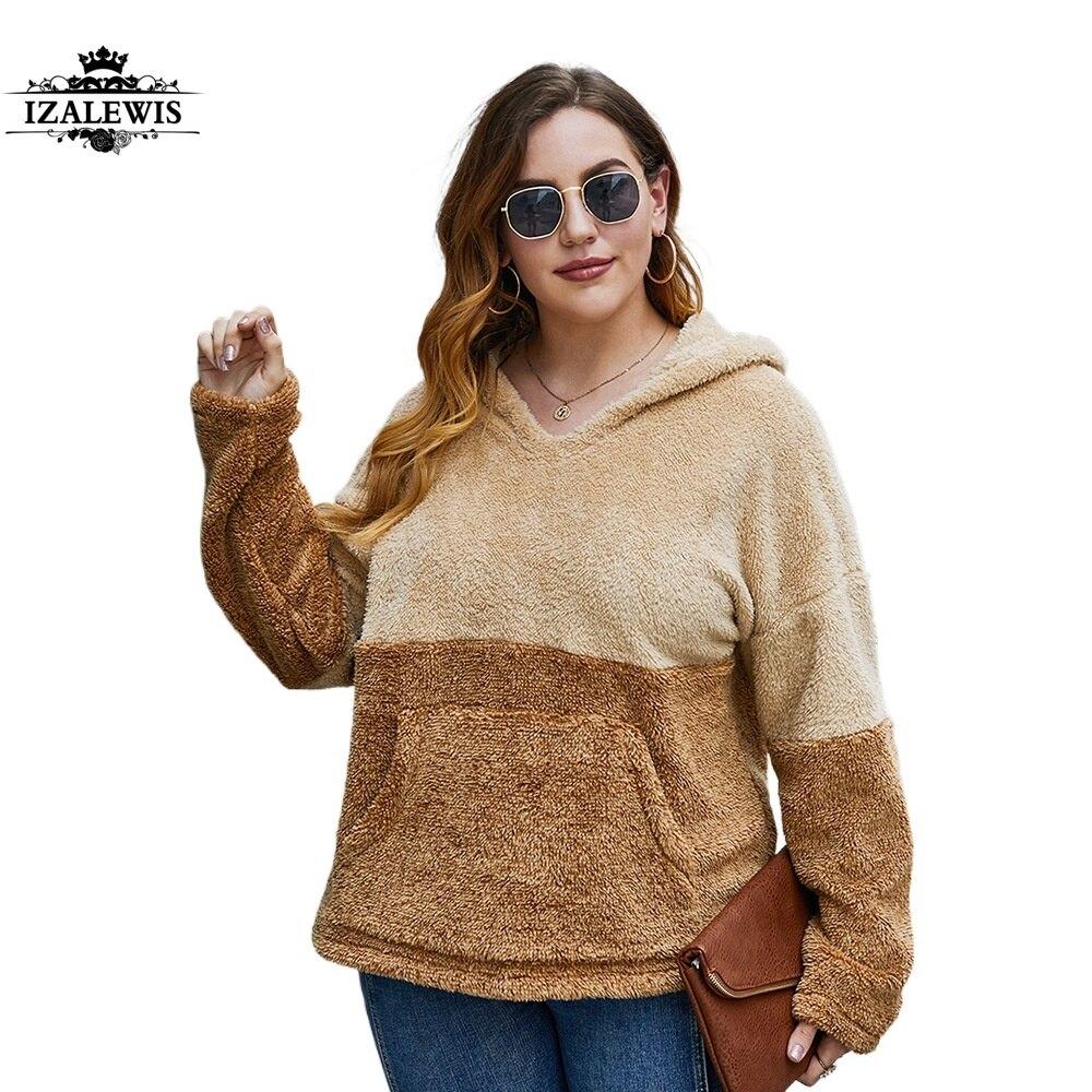 2021 Women New Fashion Spring Autumn Winter Patchwork O-neck Long Sleeve Plus Size Fleece Hoodie Top Sweatshirt Hooded