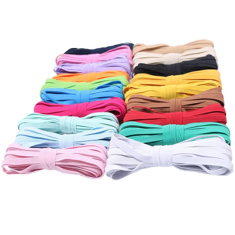 6mm Elastic Ribbon Elastic Band Rubber Band Elastic Line Elastic Cord DIY Lace Trim Sewing Waist Band Garment Accessories 4yards