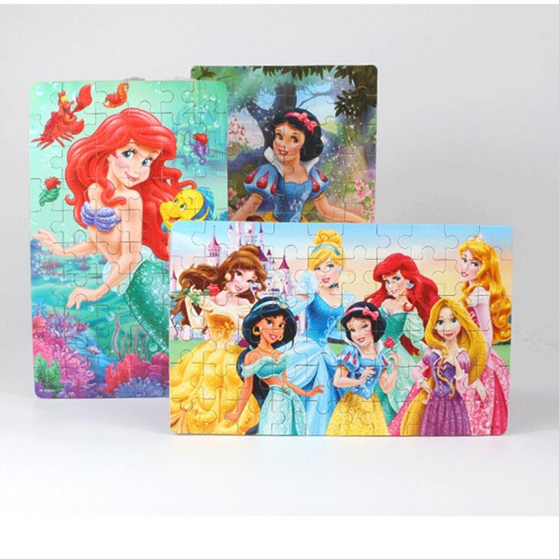 Mickey Minnie Puzzle Educational-Toy Children's Disney 60pieces Wood Aisha
