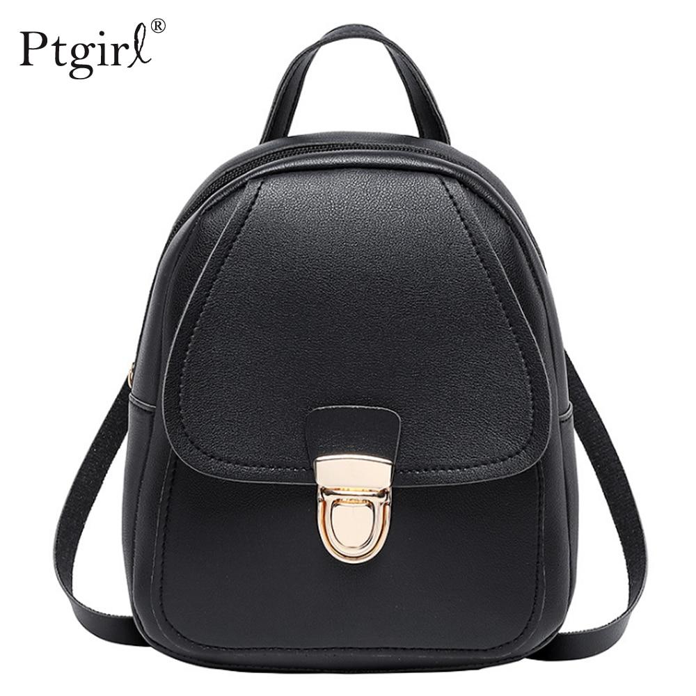 Korean Style Girls' Backpack 2019 Fashion Multi-Function Small Backpack Ptgirl Women Shoulder Bagpack School Bag женский рюкзак