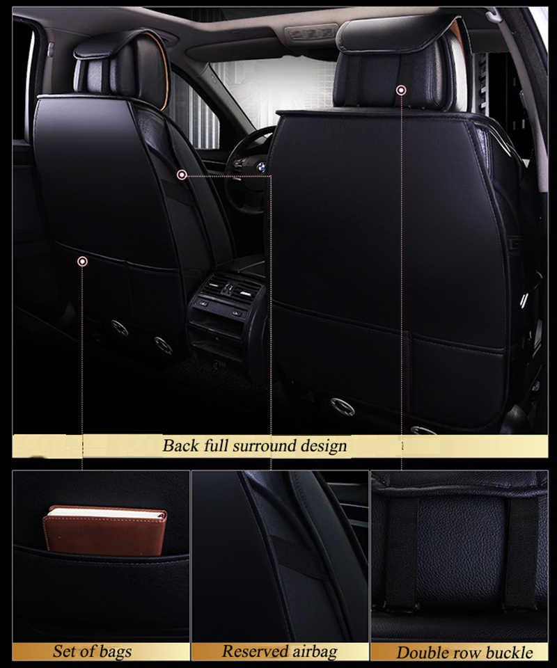 Kalaisike couro universal tampas de assento de carro para nissan todos os modelos qashqai x-trail tiida nota murano março teana estilo do carro