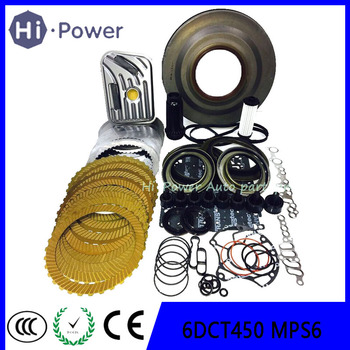 MPS6 6DCT450 Transmission Gearbox Front Clutch Cover Oil Seal & Rebuild Part Steel Plates for Ford Mondeo & Focus 6-Speed DSG