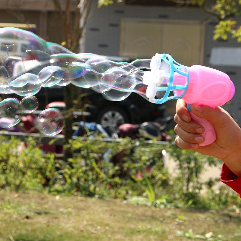 Gun Cartoon Water Gun Gift For Kids Machine Toy Kids Soap Water Bubble  Children Manual Gun Blower Bubble Blower
