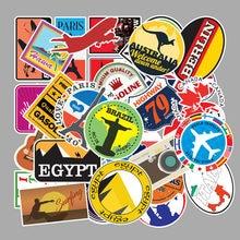 100 pièces Voyage carte Graffiti Imperméable Planche À Roulettes Valise De Voyage Téléphone Portable Bagages Autocollants Mignon Enfants Fille Jouets