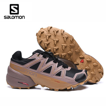 Breathable Shose Salomon Speed Cross 5 Original Men Running Shoes Outdoor Athletic Sport Salomon Speedcross 5 gtx salomon кроссовки мужские salomon supercross blast gtx размер 43