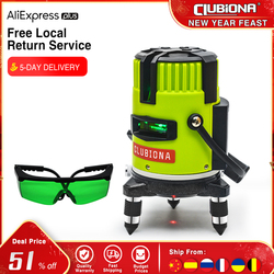 Clubiona tilt slash functional German brand 520nm outdoor and receiver available self leveling green beam lines laser level