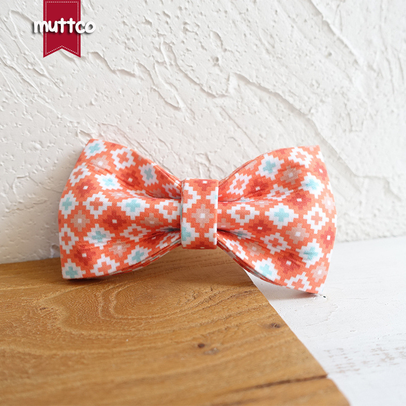 Muttco Dog Collar Accessories Bowtie Bow Pet Accessories Bow Tie Supply Of Goods Ubt-065