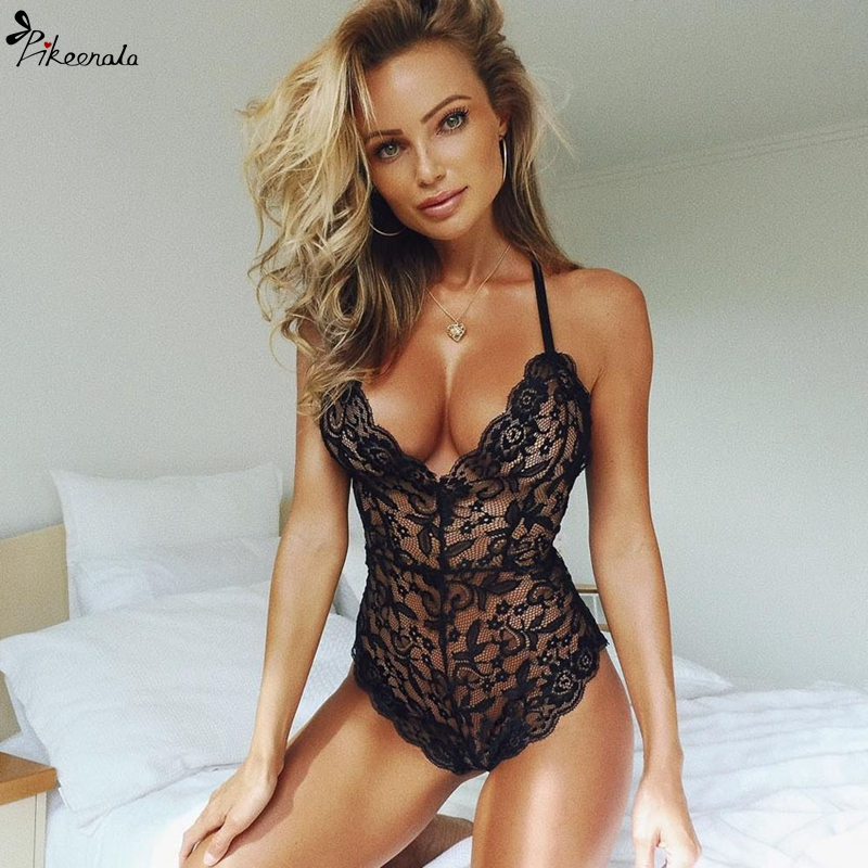 Sexy Lace Lingerie Hot Erotic Underwear Women Halter Babydoll Porno Lenceria Sex Clothes Sexy Lingerie Costumes Lenceria Mujer