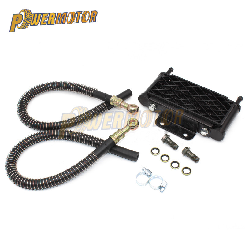 <font><b>Motor</b></font> Oil Cooling Cooler Radiator for 50 70 90 110 125 Horizontal Engine Chinese Dirt Pit Monkey Bike ATV Motorcycle KAYO APOLLO image