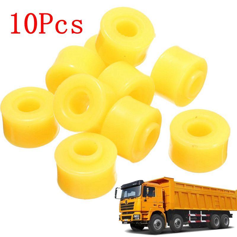 10 piezas de casquillo de amortiguador de automóvil 10mm diámetro interior amarillo caucho amortiguador parte de los bujes para accesorios de coche conjuntos