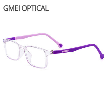 Gmei Optical Ultralight TR90 Kids Glasses Frame Square Prescription Eyeglasses Myopia Frames Women Eyewear M8038