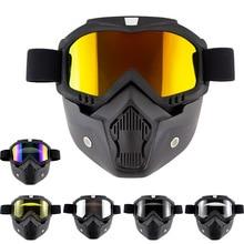 ZK30 Motorcycle Glasses Motocross Motorbike Moto Goggles Detachable Goggle UV Protection Bike for Halley Open Face Helmet Mask