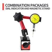 Indicateur à cadran à levier, support de Base magnétique, indicateur à cadran, sonde de mesure micromètre, outil de mesure, jauge d'alésage magnétique, 0.08