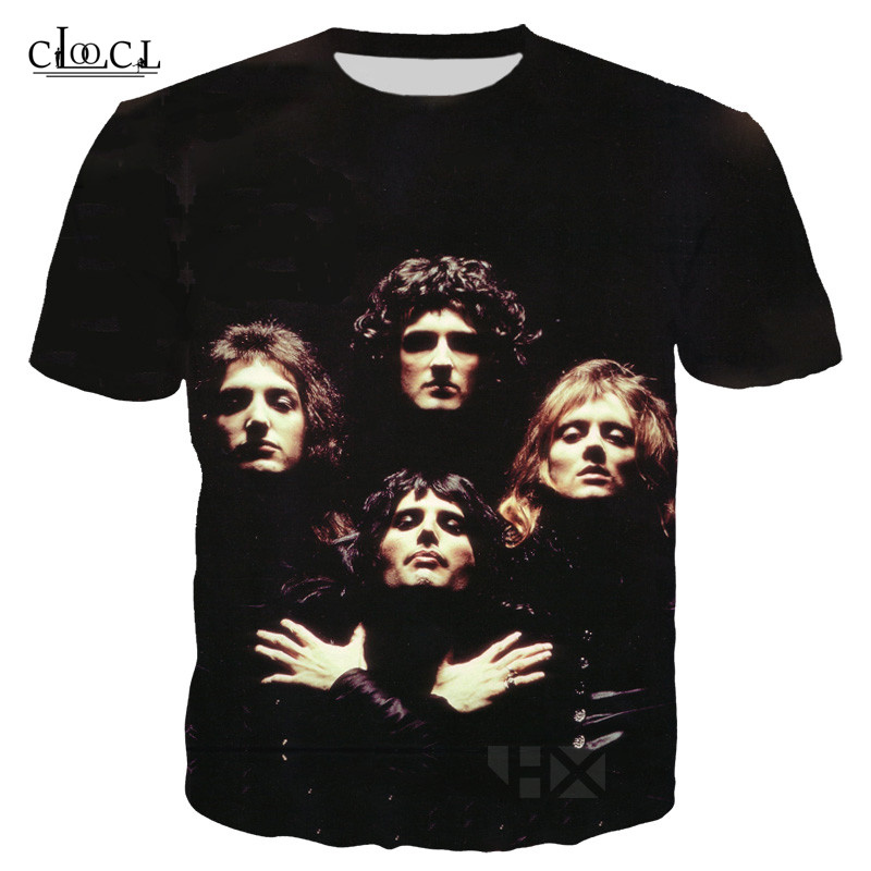 Queen Band 3D Printed T Shirt For Men Women Fashion Hooded Sweatshirts Unisex Hoodies Harajuku Style TShirts 2019 Newest T-shirt