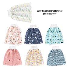 Детская Юбка для подгузников, водонепроницаемая ткань для подгузников, герметичный матрас, Моющийся хлопок, детская мочозащитная юбка-штан...