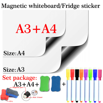 Weiche Magnetische Whiteboard Trockenen Löschen Weiß Bord Flexible Magnet Kühlschrank Aufkleber Schule Zu Hause Büro Küche Nachricht Board Marker