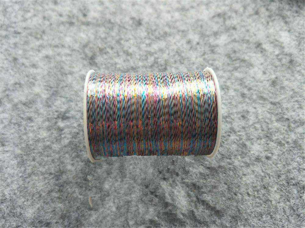 Металлическая нить для вышивки, аксессуары для одежды DIY, основные 15 видов цветов на выбор, нить для шитья, 1 шт - Цвет: shallow  colorful