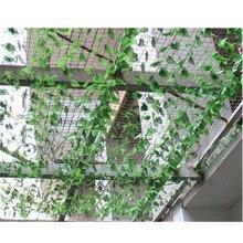 Искусственные зеленые листья плюща Висячие гирлянды цветы лоза для DIY дома свадьбы цветочные стены сада Декор Поддельные Листва Декор поставки