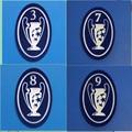 Европа чемпионов патч-3, 6, 7, 8, 9, чашки футбольная нашивка передачи тепла значок
