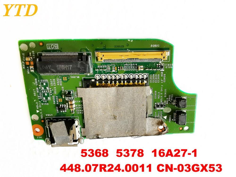 Original for DELL 5368  5378  USB board 5368  5378  16A27-1  448.07R24.0011 CN-03GX53  tested good free shipping